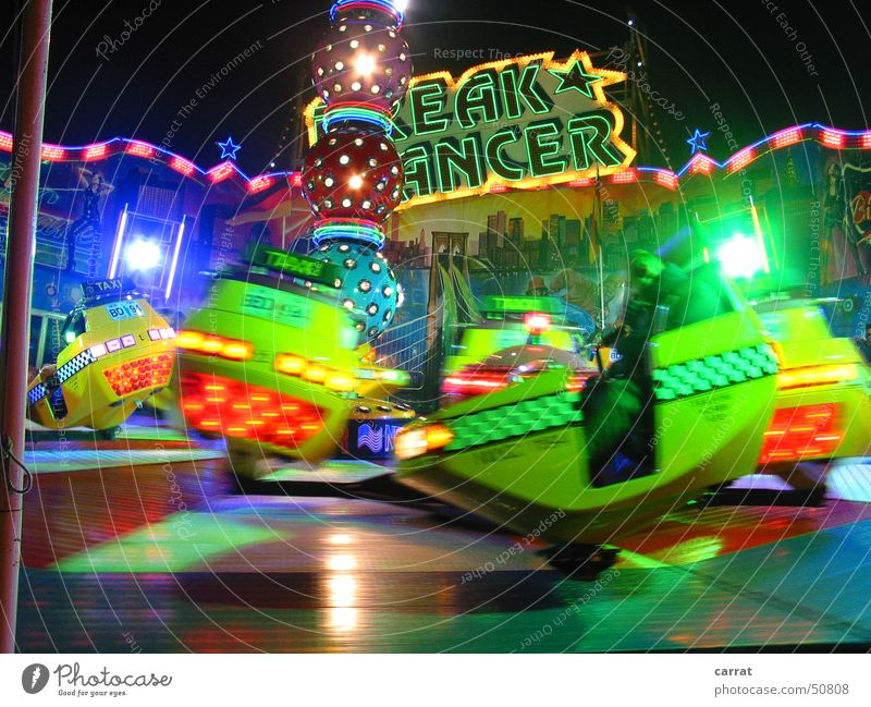 EAK-ANCER Breakdance Fairs & Carnivals Christmas Fair Rostock Carousel Light Green Red speed Blue brightly coloured soundmachine