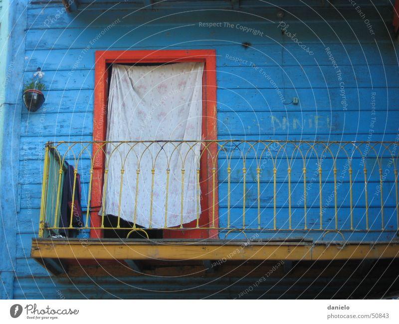 Blue Red Door Entrance Welcome Argentina Buenos Aires La Boca