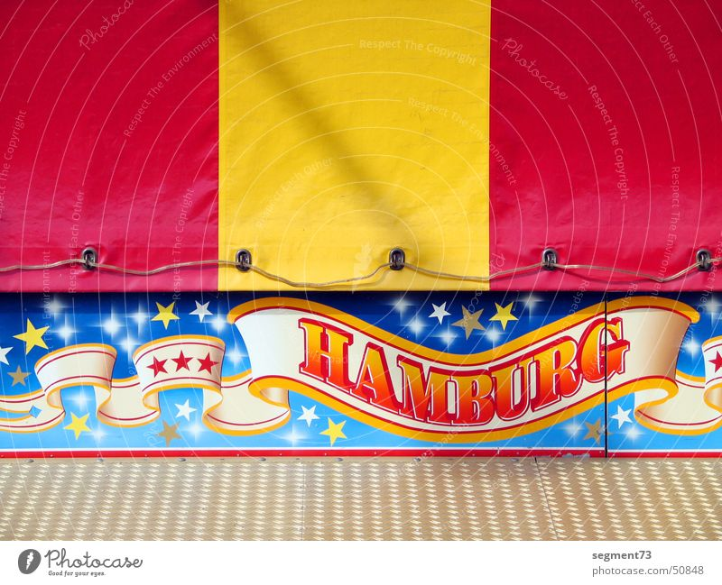 Hamburg is worth a trip Fairs & Carnivals Red Yellow Covers (Construction) Stripe Dome Signs and labeling Characters