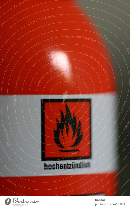 highly flammable Red Bottle Gas Blaze singnal Sign Signage Warning label wise Combustible