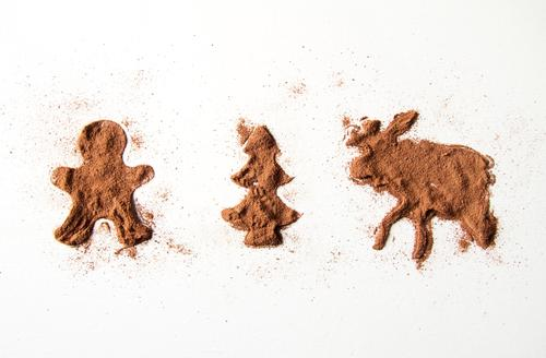 Christmas & Advent Winter Feasts & Celebrations Brown To enjoy Cooking & Baking Herbs and spices Candy Fir tree Powder Elk Cinnamon Gingerbread man