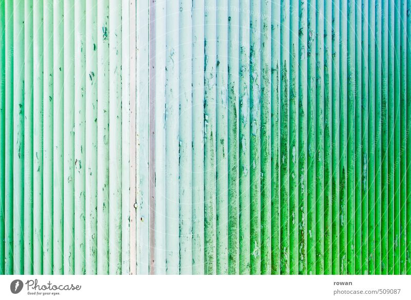Wall (barrier) Wall (building) Old Background picture Dye Colour Flake off Green Turquoise Parallel Bleached Line Furrow Tin Corrugated sheet iron