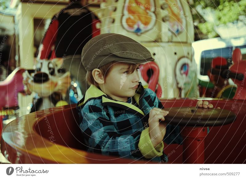 Human being Child Hand Joy Movement Autumn Boy (child) Funny Head Weather Blonde Infancy Places Cool (slang) Retro Round