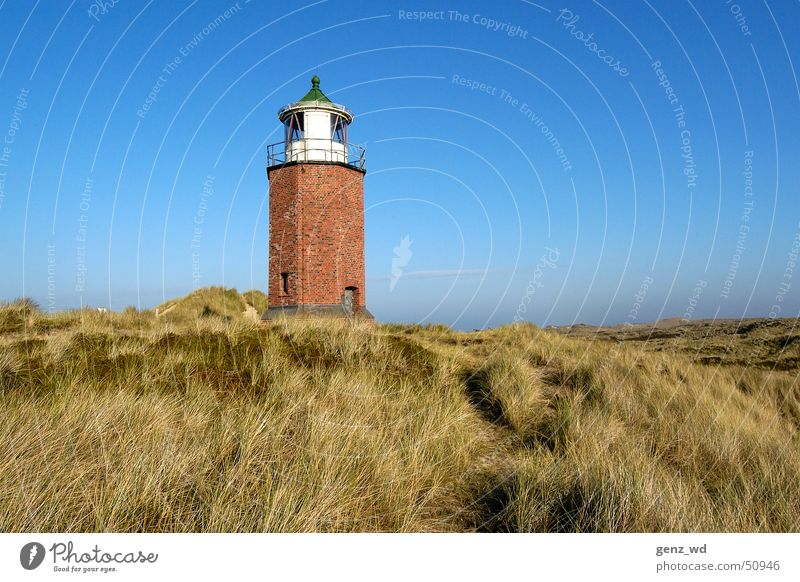 Sylt, Kampen - Red cliff, old lighthouse Schleswig-Holstein Lighthouse Beacon