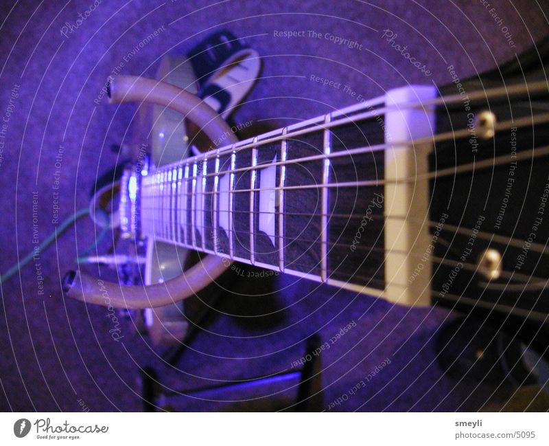 Blue E-Guitar Electric bass Electric guitar Violet Musical instrument string Macro (Extreme close-up) Rock music Punk les paul