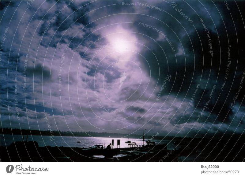 Morning in Australia Sunrise Ocean Watercraft Shadow