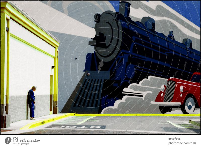Human being Architecture Highway ramp (entrance) Mural painting