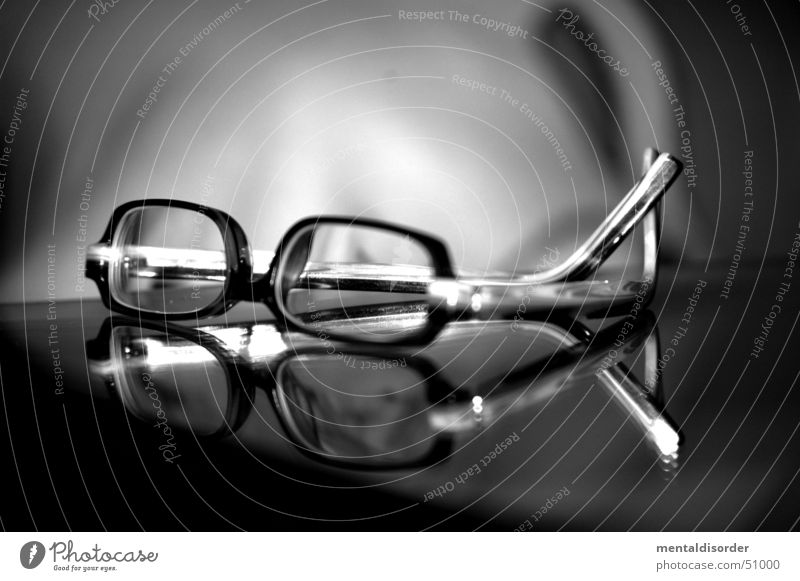 Zero vision (old title: Glasses? F.......!) Eyeglasses Framework Black White Optician Free-of-charge Lake Planning Plastic bw eye eyesight eyewear farsighted