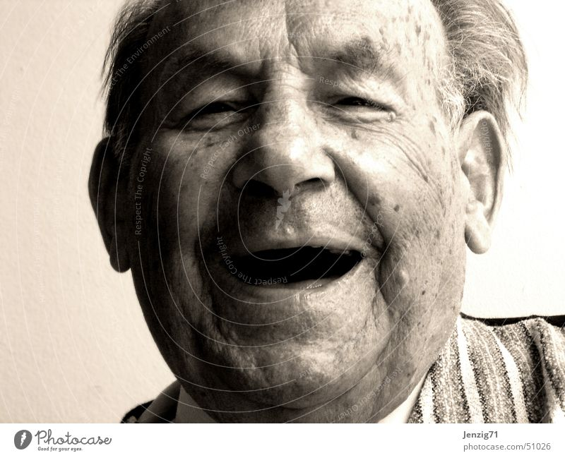 Man Face Senior citizen Laughter Portrait photograph Human being Happiness Grandfather Grandparents Male senior
