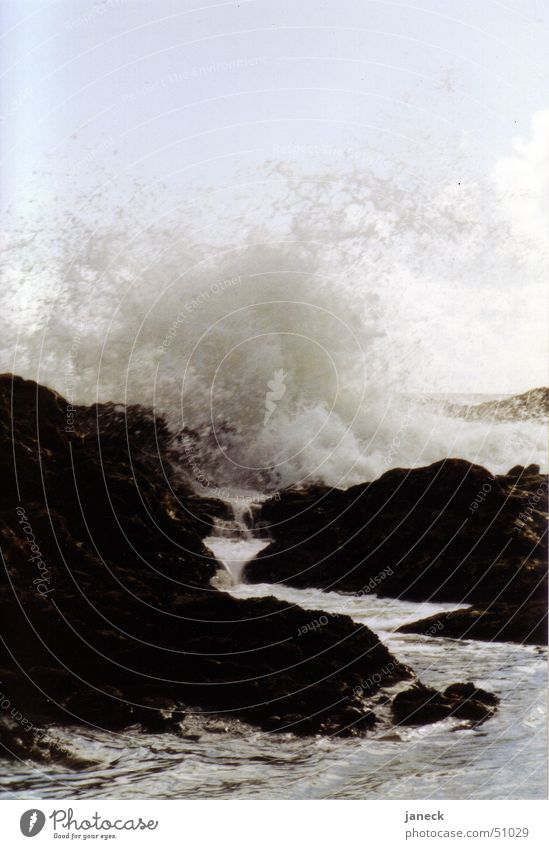 Surf in Porto, Portugal Ocean Atlantic Ocean Black Water Rock Stone sea waves stones