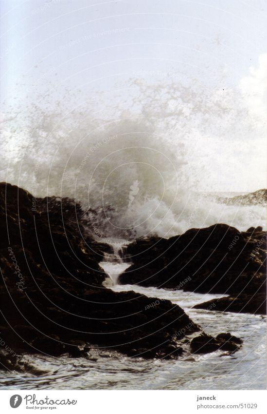 Water Ocean Black Stone Rock Surf Portugal Corsica Atlantic Ocean Porto