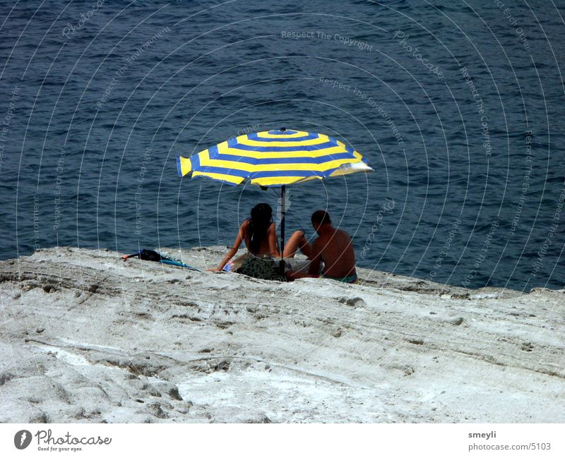 vistas Ocean Vacation & Travel Beach Loneliness Sunshade Human being Rock