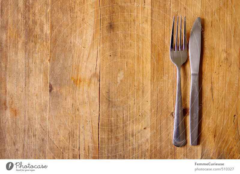 Wood Eating Bright Brown Wait Empty To enjoy Nutrition Table Appetite Silver Dinner Knives Rural Lunch Cutlery