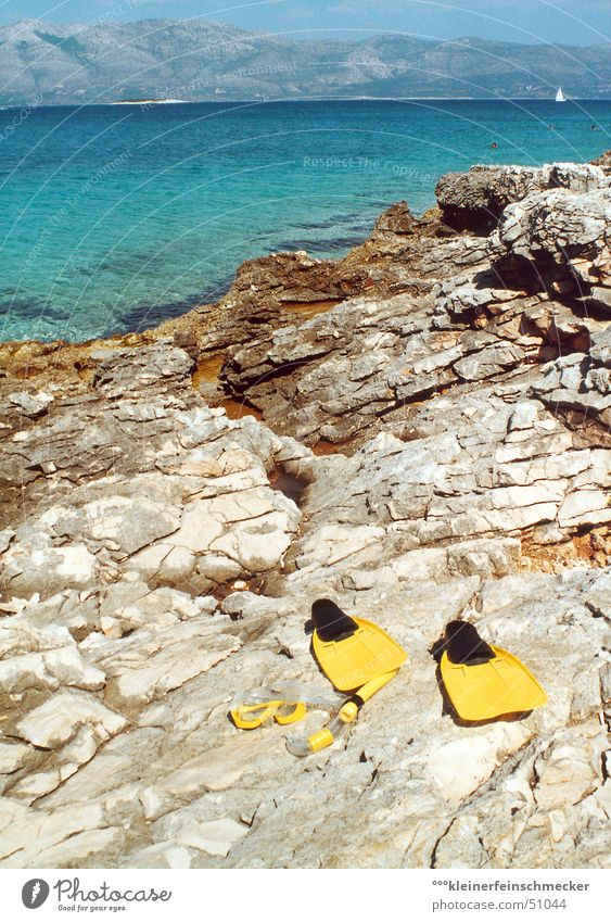 Blue Water Green Vacation & Travel Sun Ocean Summer Beach Calm Relaxation Playing Mountain Coast Stone Swimming & Bathing Leisure and hobbies