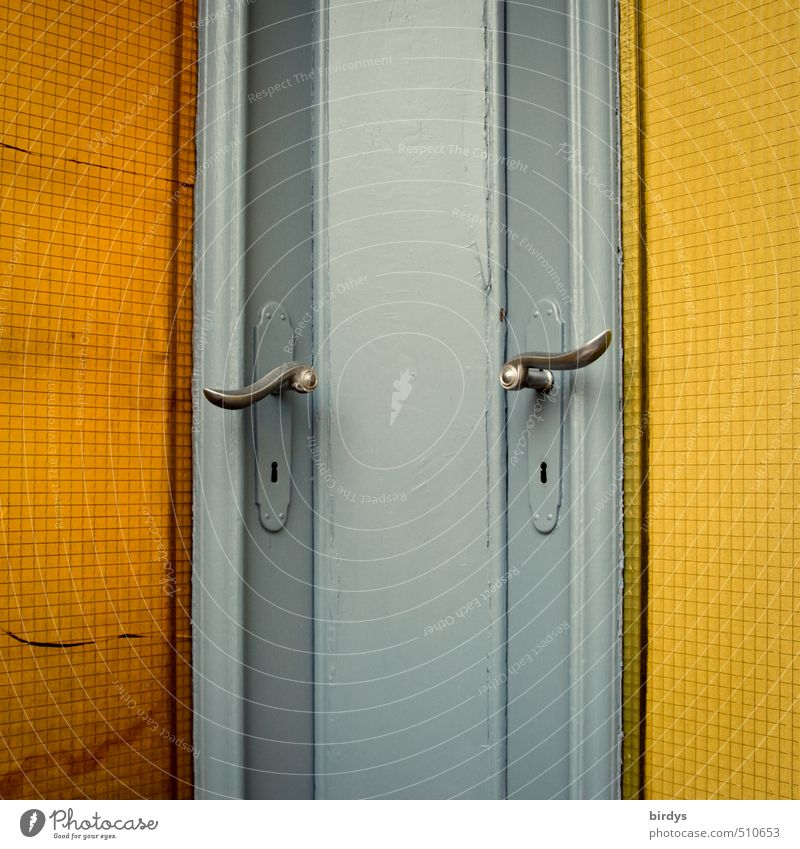 Blue Yellow Together Orange Door Positive Nostalgia Door handle Original Neighbor Front door