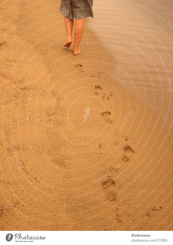 Woman Water Ocean Summer Beach Yellow Feet Sand Legs Going Tracks Barcelona Spain