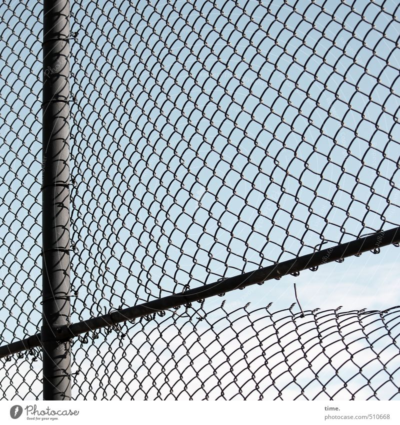 ma aerate Fence Fence post Sporting Complex Wire netting Wire netting fence Loop Broken Trashy Orderliness Exhaustion Dangerous Nerviness Aggravation Revenge