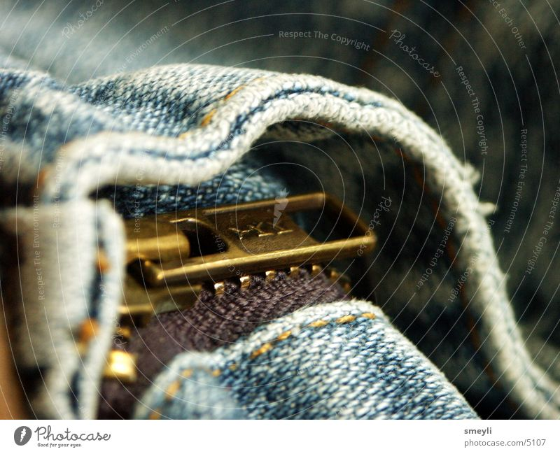 Blue Jeans Pants Cloth Stitching Zipper Photographic technology