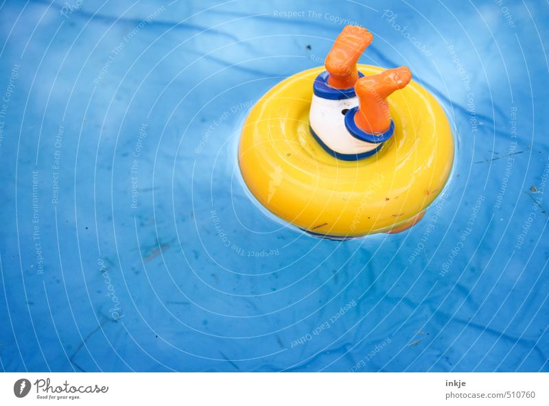 Blue Water Summer Joy Yellow Funny Playing Small Swimming & Bathing Leisure and hobbies Kitsch Plastic Toys Dive Summer vacation Water wings