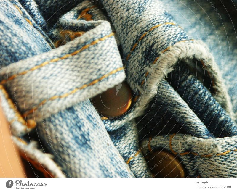 Old Blue Metal Jeans Broken Pants Cloth Bag Photographic technology Washed out Scrap