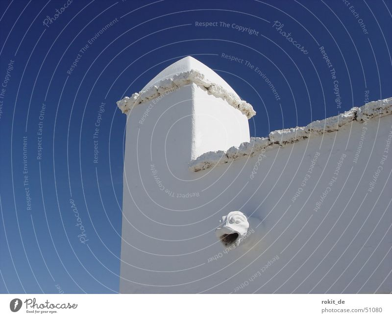 Sky Blue White House (Residential Structure) Wall (building) Architecture Style Wall (barrier) Building Bright Roof Blue sky Section of image Partially visible Mediterranean