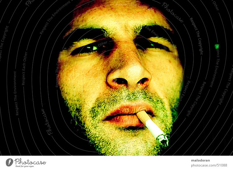 dont smoke Cigarette Brand of cigarettes Unshaven Smoking Human being test shoot