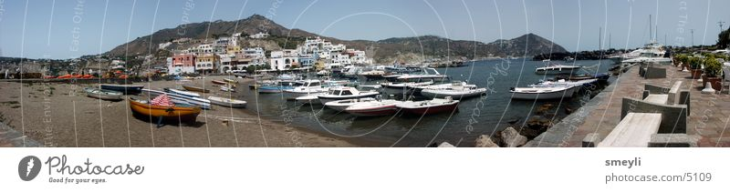 Water Sky Sun Ocean Beach Vacation & Travel Watercraft Large Italy Harbour Panorama (Format) Fisherman Naples Ischia