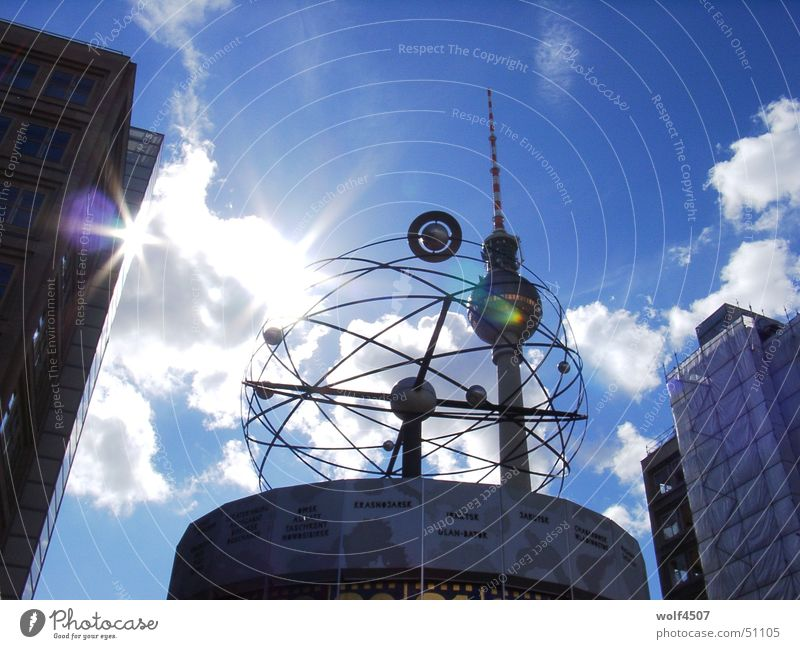 sun game Alexanderplatz World time clock Berlin Berlin TV Tower