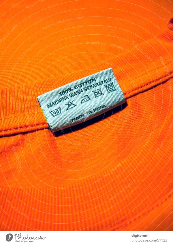 Orange Clothing Safety T-shirt Cleaning Cloth Signage Piece of paper Symbols and metaphors Pallid Washing Bans Household Washer Dry Flashy
