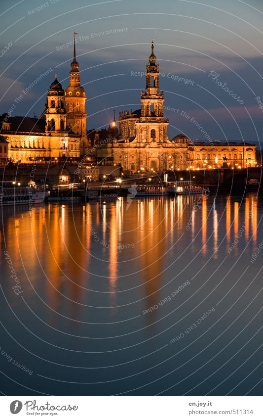 Dresden simply beautiful! Water Sky River bank Saxony Federal eagle Germany Europe Town Capital city Downtown Old town Skyline Church Tower Manmade structures
