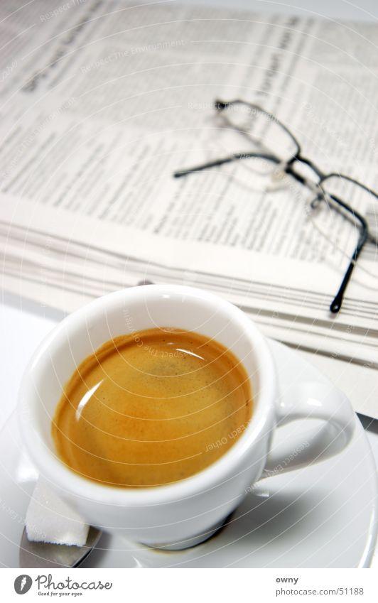 Business Coffee Eyeglasses Newspaper Media Café Sugar Espresso Wake up Current Arise