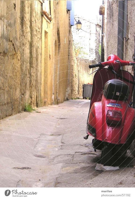 Red Vacation & Travel Summer Street Lanes & trails Stone Walking Modern Speed Technology Driving Italy Vehicle France Motorcycle Alley