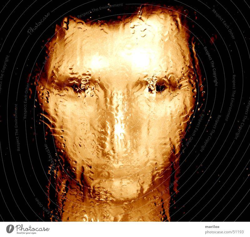 Woman Water Face Emotions Fear Drops of water Wet Mirror image Harrowing