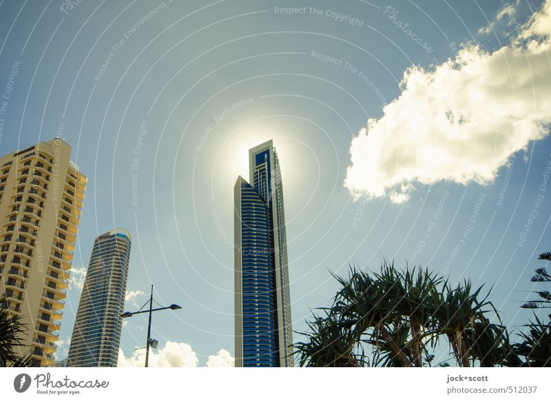 halo effect Sun Warmth Architecture Building Air Illuminate Power Modern High-rise Authentic Perspective Climate Beautiful weather Belief Hot Downtown
