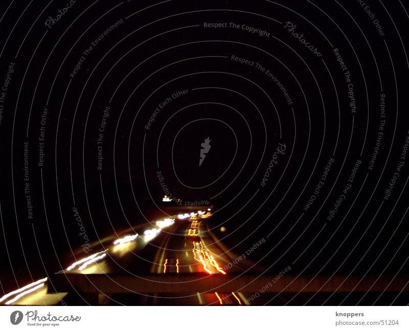 motorway at night Highway Night Light Rear light Street Lighting Evening Car