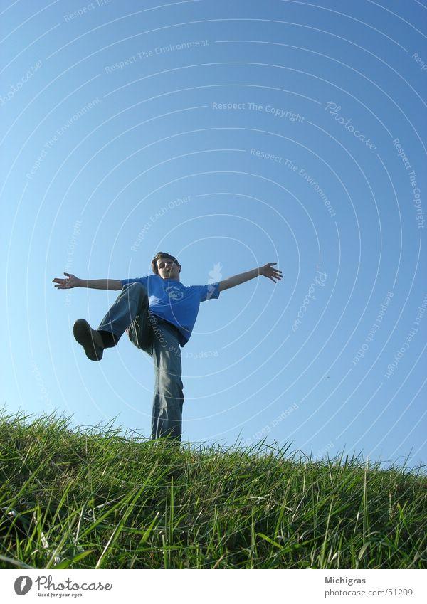 Sky Blue Meadow Freedom Bright Deep Edge Dynamism
