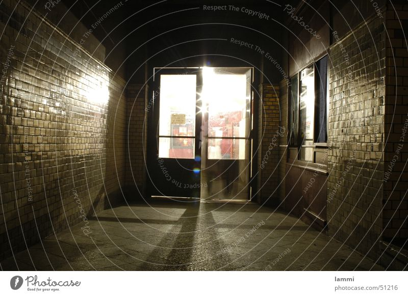 Loneliness Dark Movement Bright Door Closed Empty Hope Open Long Tunnel Entrance Hallway Surprise