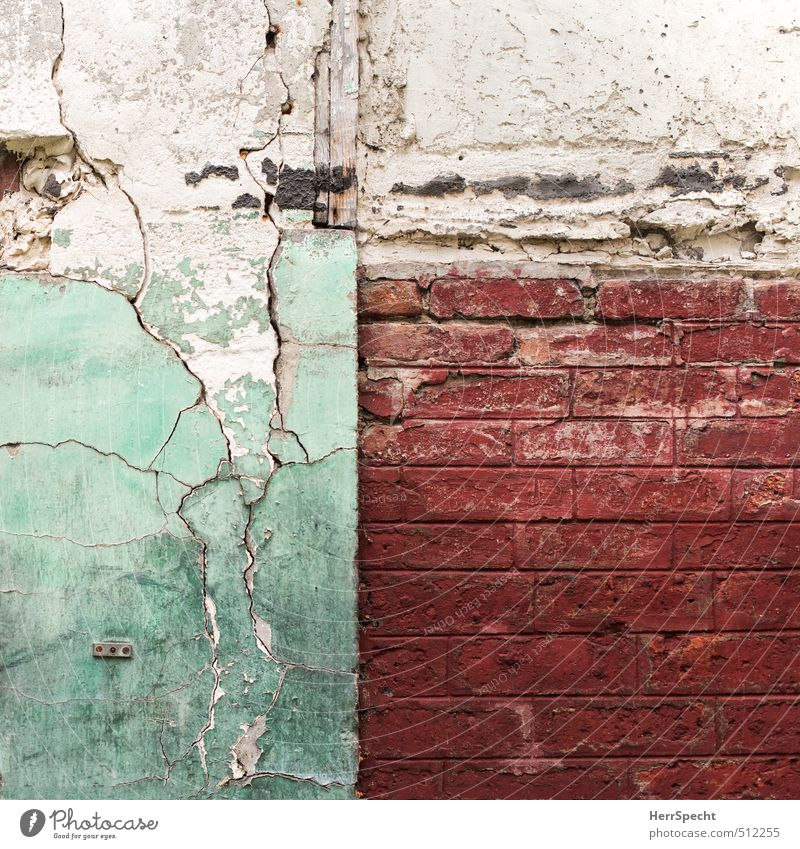 Old City Beautiful Green White Red House (Residential Structure) Wall (building) Wall (barrier) Building Dirty Gloomy In pairs Esthetic Broken Transience