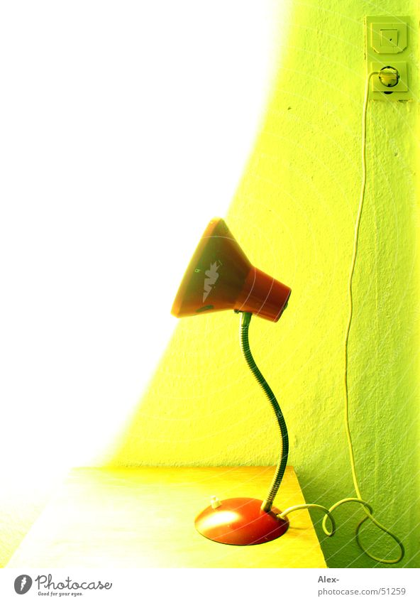 Green Red Lamp Bright Table Electricity Retro Bed Cable Umbrella Electric bulb Switch Socket Cupboard Bedroom Connector