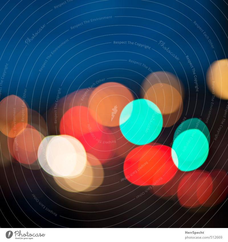 evening traffic Town Transport Street Traffic light Car Esthetic Cool (slang) Happiness Beautiful Multicoloured Light Point of light Blur Road traffic