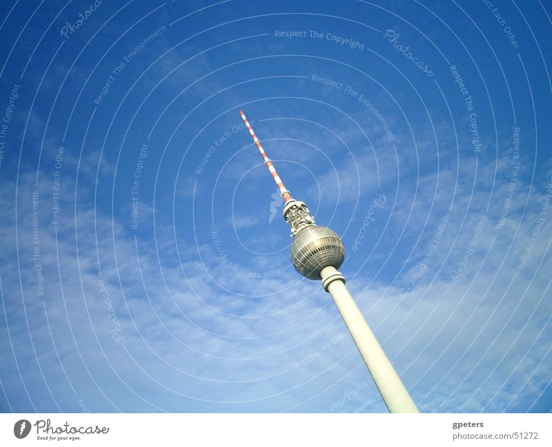 Sky Clouds Berlin Television Berlin TV Tower