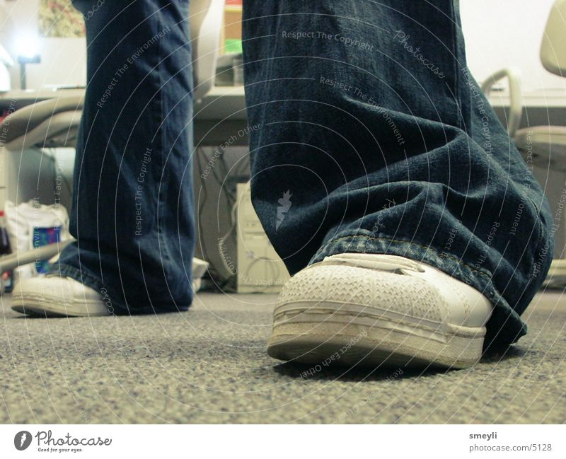 stay on the ground Close-up Footwear Pants Floor covering Going Stand Human being Legs Detail