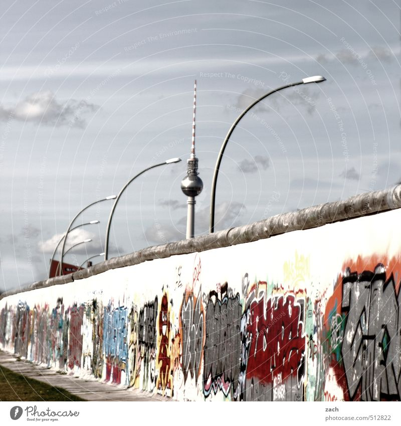 To the best of my knowledge... it's immediate, immediate. Tourism Subculture Graffiti Street art Summer Berlin Town Capital city Downtown Wall (barrier)