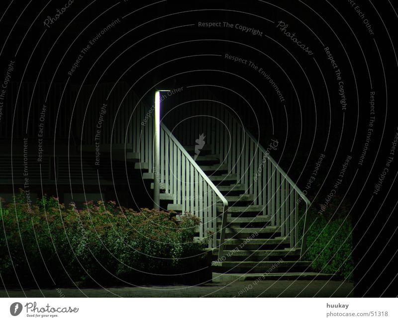 Steps into the Dark Light Night Lantern Stairs