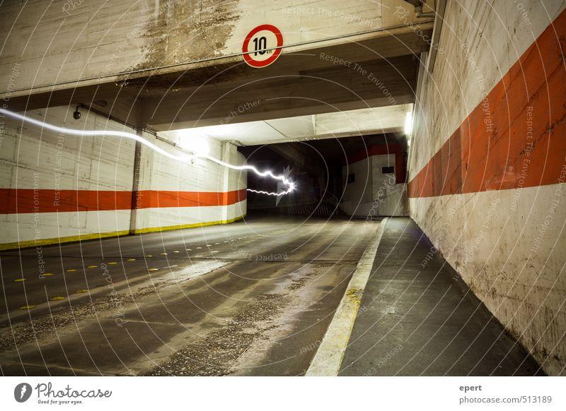 Park Light System III Parking garage Wall (barrier) Wall (building) Street Tunnel lightning bolt jet Sunbeam Electricity Movement Illuminate Town Energy Speed