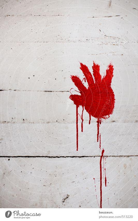 ut ruhrgebiet touch. Entertainment Kindergarten Child Hand Fingers Art Industrial plant Factory Ruin Wall (barrier) Wall (building) Facade Concrete Graffiti Red