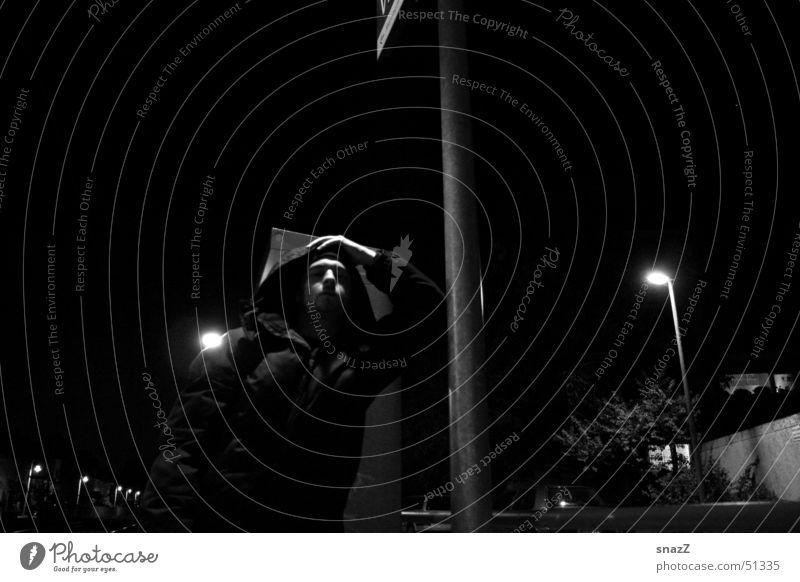 Sky Man White Calm Black Dark Autumn Gray Lamp Power Jacket Station