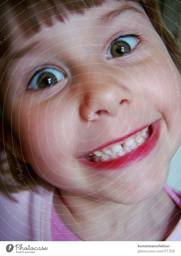 Child Girl Face Laughter Funny Happiness Teeth