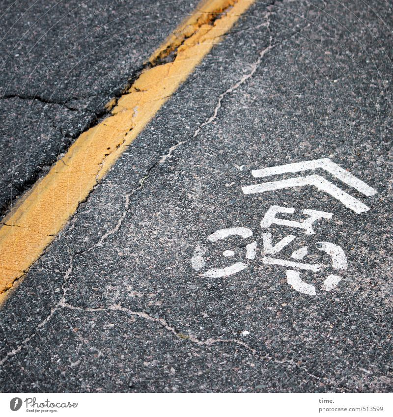 Yellow Street Movement Lanes & trails Funny Gray Line Transport Signs and labeling Tourism Transience Uniqueness Protection Cycling Logistics