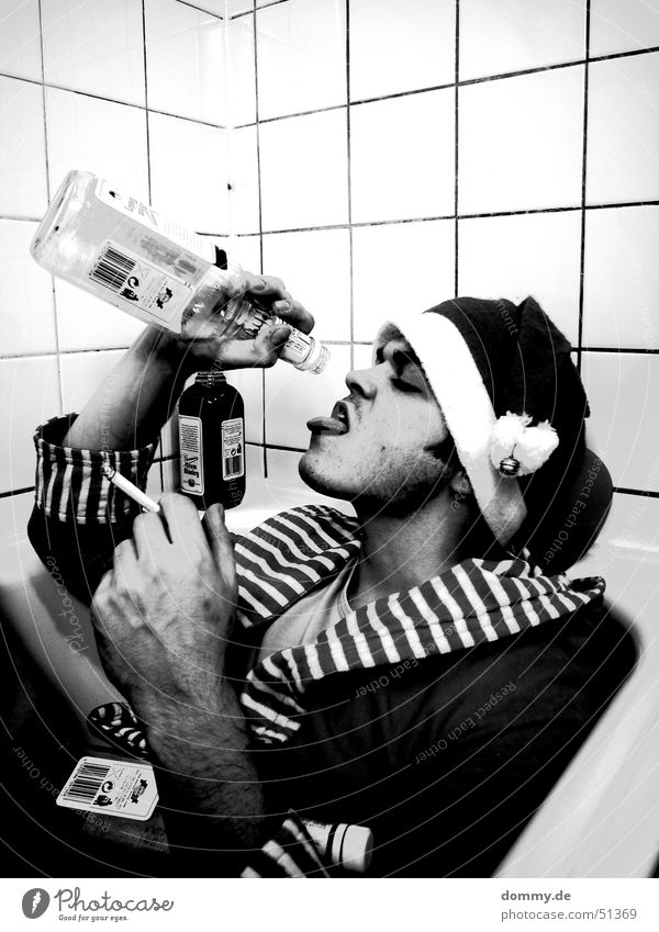 Man White Black Adults Sit Mouth Lie Nose Exceptional Face Drop Drinking Bathroom Smoking Human being Bathtub
